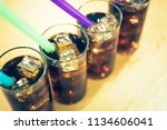 glass of soda waters is a... | Shutterstock . vector #1134606041