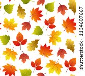 vector seamless pattern with... | Shutterstock .eps vector #1134607667