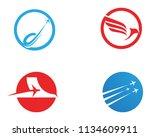 airplane fly logo and symbols...   Shutterstock .eps vector #1134609911