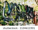 view of colorful safety harness ... | Shutterstock . vector #1134611501