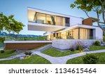 3d rendering of modern cozy... | Shutterstock . vector #1134615464