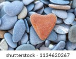 Stone Red Heart Lies On The...