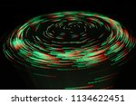 green vortex effect created... | Shutterstock . vector #1134622451