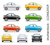 set of cars | Shutterstock .eps vector #113462419