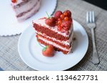 cake with berries | Shutterstock . vector #1134627731