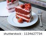 cake with berries | Shutterstock . vector #1134627734