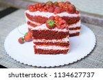 cake with berries | Shutterstock . vector #1134627737