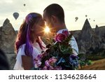 couple in love stands on...   Shutterstock . vector #1134628664