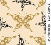 beautiful seamless pattern with ...   Shutterstock .eps vector #1134628931
