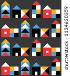 seamless pattern with small... | Shutterstock .eps vector #1134630359
