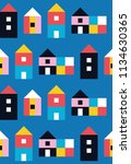 seamless pattern with small... | Shutterstock .eps vector #1134630365