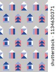 seamless pattern with small... | Shutterstock .eps vector #1134630371