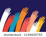 colorful raised in top vector...   Shutterstock .eps vector #1134633755