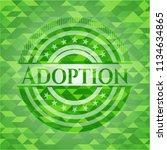 adoption green mosaic emblem | Shutterstock .eps vector #1134634865