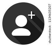 add friend vector icon. add...   Shutterstock .eps vector #1134635207