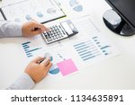 business man working at office... | Shutterstock . vector #1134635891