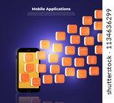 flat design concept of mobile... | Shutterstock .eps vector #1134636299