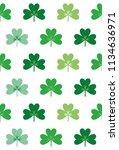 three leaf clover seamless... | Shutterstock .eps vector #1134636971