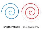archimedean spiral on white... | Shutterstock .eps vector #1134637247