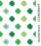four leaf clover seamless... | Shutterstock .eps vector #1134638645