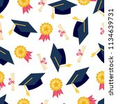 funny seamless pattern with... | Shutterstock .eps vector #1134639731