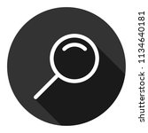 magnifier icon. magnifying... | Shutterstock .eps vector #1134640181