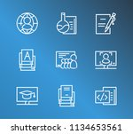 online education icon set and... | Shutterstock .eps vector #1134653561