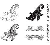classical baroque vector set of ... | Shutterstock .eps vector #1134658265