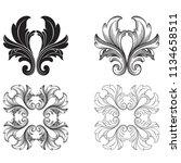 classical baroque vector set of ... | Shutterstock .eps vector #1134658511