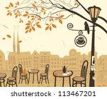 autumn landscape with a street... | Shutterstock .eps vector #113467201