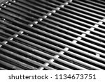 a recently cleaned grill at a...   Shutterstock . vector #1134673751