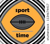 rugby ball icon vector in...