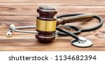 Gavel With Stethoscope On...