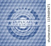 duplicate your income blue... | Shutterstock .eps vector #1134684671