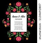 autumn wedding save the date... | Shutterstock .eps vector #1134692807