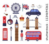 travel to great britain design... | Shutterstock .eps vector #1134694361