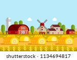 farming and agriculture concept.... | Shutterstock .eps vector #1134694817