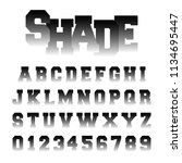 alphabet font shade design. set ... | Shutterstock .eps vector #1134695447