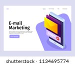 mobile email notification... | Shutterstock .eps vector #1134695774