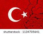 turkey flag crisis | Shutterstock . vector #1134705641