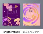 abstract geometric backgrounds. ... | Shutterstock .eps vector #1134710444