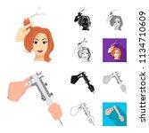 manipulation by hands cartoon... | Shutterstock .eps vector #1134710609