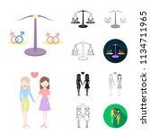 gay and lesbian cartoon black...   Shutterstock .eps vector #1134711965