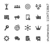 internet marketing icons | Shutterstock .eps vector #1134713867