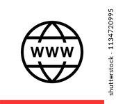 www vector icon  web symbol.... | Shutterstock .eps vector #1134720995