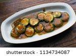 healthy homemade organic... | Shutterstock . vector #1134734087
