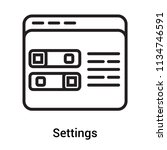 settings icon vector isolated... | Shutterstock .eps vector #1134746591
