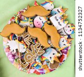 gringer bread spice cakes in... | Shutterstock . vector #1134752327