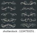 elegant swirls collection. set... | Shutterstock .eps vector #1134753251