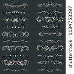 set of decorative borders.... | Shutterstock .eps vector #1134753287
